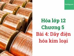 Hóa lớp 12 - Chương 5 - Bài 4: Dãy điện hóa kim loại - HocHay