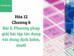 Hóa lớp 12 - Chương 6 - Bài 5: Phương pháp giải bài tập tác dụng với dung dịch kiềm, muối - HocHay