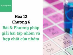 Hóa lớp 12 - Chương 6 - Bài 8: Phương pháp giải bài tập nhôm và hợp chất của nhôm - HocHay