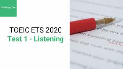 Sách Luyện thi ETS TOEIC 2020 - Test 1: Listening - Học Hay
