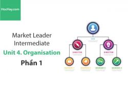 Sách Market Leader Intermediate – Unit 4: Organisation – Học Hay (Phần 1)