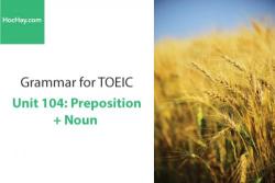 Sách Ngữ pháp tiếng anh luyện thi TOEIC – Unit 104: Giới từ đi với danh từ – Học Hay