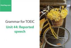Sách Ngữ pháp tiếng anh luyện thi TOEIC – Unit 44: Câu tường thuật – Học Hay