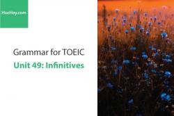 Sách Ngữ pháp tiếng anh luyện thi TOEIC – Unit 49: Động từ nguyên mẫu – Học Hay