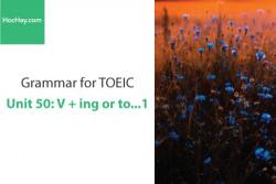 Sách Ngữ pháp tiếng anh luyện thi TOEIC – Unit 50: V+ ing or to... 1 – Học Hay