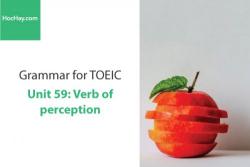 Sách Ngữ pháp tiếng anh luyện thi TOEIC – Unit 59: Động từ chỉ giác quan – Học Hay