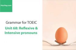 Sách Ngữ pháp tiếng anh luyện thi TOEIC – Unit 68: Đại từ phản thân và đại từ nhấn mạnh – Học Hay