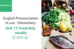 Sách Phát âm tiếng anh – Unit 17: Cách phát âm /ʃ/ và /ʒ/– Học Hay