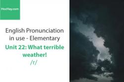 Sách Phát âm tiếng anh – Unit 22: Cách phát âm /r/– Học Hay