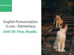 Sách Phát âm tiếng anh – Unit 50: Ngữ điệu trong cụm từ và câu 2 – Học Hay