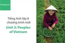Tiếng Anh lớp 8 – Unit 3: Peoples of Vietnam – Học Hay