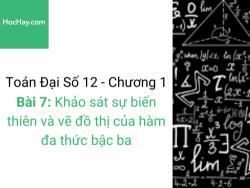 Toán lớp 12 - Chương 1 - Bài 7: Khảo sát sự biến thiên và vẽ đồ thị của hàm đa thức bậc ba - Học hay