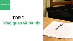 Tổng quan về bài thi TOEIC - Học hay