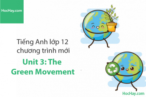 Tiếng Anh lớp 12 – Unit 3: The Green Movement – Học Hay