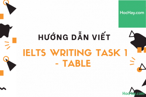 Cách viết IELTS Writing Task 1 - Table | Học Hay