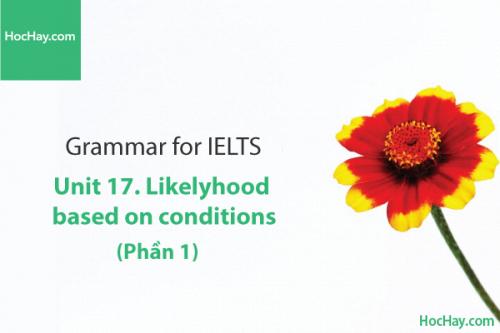 Ngữ pháp tiếng anh luyện thi IELTS – Unit 17: Câu điều kiện (Conditions) - Phần 1 – Học Hay