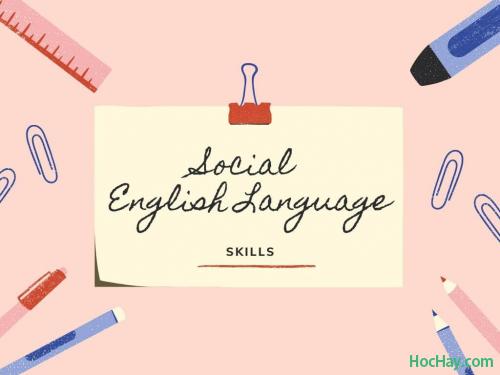 Học tiếng Anh online cùng HocHay qua các mạng xã hội