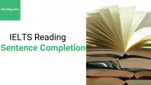 Chiến lược làm bài IELTS Reading dạng bài Sentence Completion - Hochay