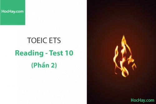 Luyện thi ETS TOEIC – Test 10: Reading (Phần 1) – Học Hay