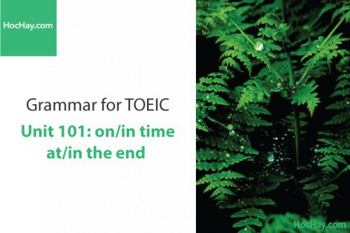 Ngữ pháp tiếng anh luyện thi TOEIC – Unit 101: on/in time - at/in the end – Học Hay