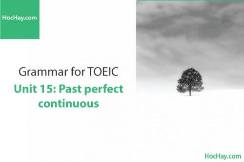 Ngữ pháp tiếng anh luyện thi TOEIC – Unit 15: Quá khứ hoàn thành tiếp diễn – Học Hay