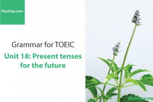Ngữ pháp tiếng anh luyện thi TOEIC – Unit 18: Thì hiện tại với ý nghĩa tương lai – Học Hay
