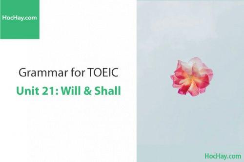 Ngữ pháp tiếng anh luyện thi TOEIC – Unit 21: Will và Shall – Học Hay