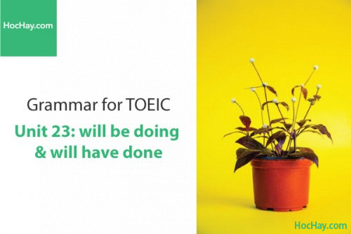 Ngữ pháp tiếng anh luyện thi TOEIC – Unit 23: will be doing và will have done – Học Hay