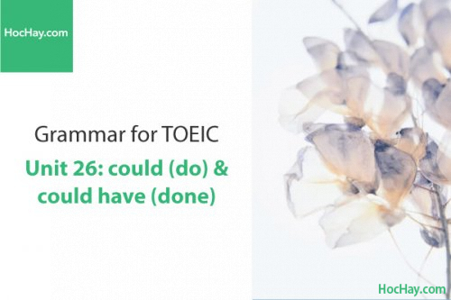 Ngữ pháp tiếng anh luyện thi TOEIC – Unit 26: Could (do) & could have (done) – Học Hay
