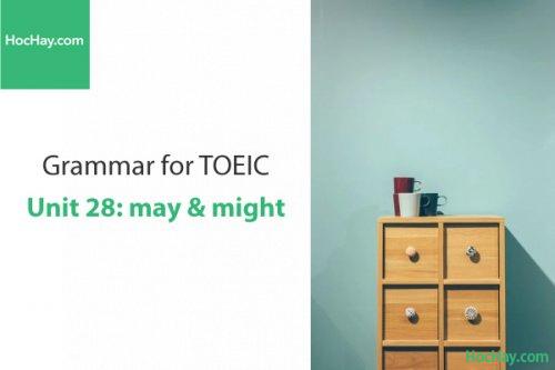 Ngữ pháp tiếng anh luyện thi TOEIC – Unit 28: May & Might – Học Hay