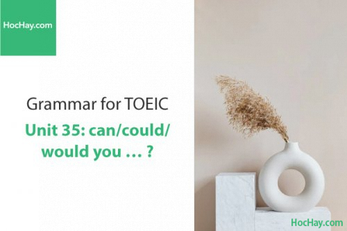 Ngữ pháp tiếng anh luyện thi TOEIC – Unit 35: Can/Could/Would you...? – Học Hay