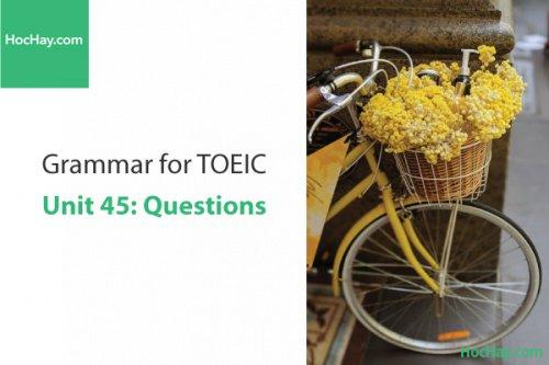 Ngữ pháp tiếng anh luyện thi TOEIC – Unit 45: Câu nghi vấn – Học Hay