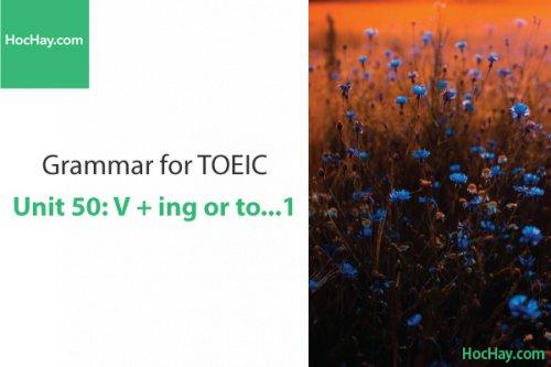 Ngữ pháp tiếng anh luyện thi TOEIC – Unit 50: V+ ing or to... 1 – Học Hay