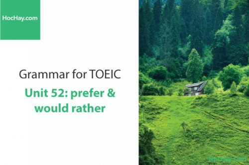 Ngữ pháp tiếng anh luyện thi TOEIC – Unit 52: Prefer & would rather – Học Hay