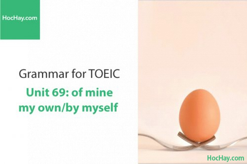 Ngữ pháp tiếng anh luyện thi TOEIC – Unit 69: of mine/my own/by myself – Học Hay