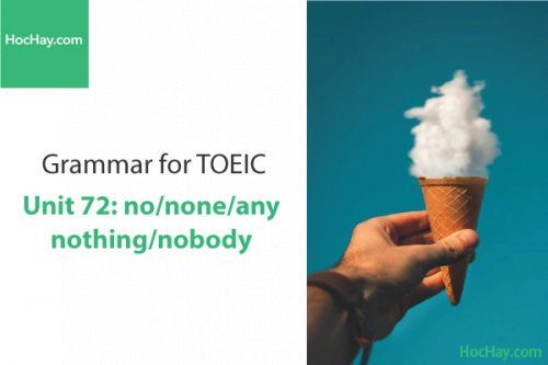 Ngữ pháp tiếng anh luyện thi TOEIC – Unit 72: no/none/any/nobody/nothing – Học Hay