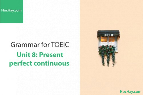 Ngữ pháp tiếng anh luyện thi TOEIC – Unit 8: Hiện tại hoàn thành tiếp diễn – Học Hay