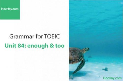 Ngữ pháp tiếng anh luyện thi TOEIC – Unit 84: Enough & too – Học Hay
